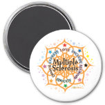 Multiple Sclerosis Lotus 3 Inch Round Magnet