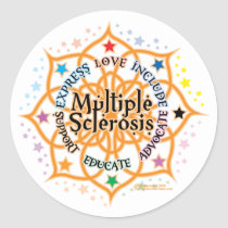 Multiple Sclerosis Lotus Classic Round Sticker