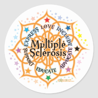 Multiple Sclerosis Lotus Classic Round Sticker