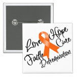 Multiple Sclerosis Love Hope Determination Pinback Buttons