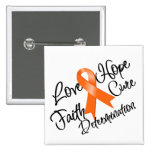 Multiple Sclerosis Love Hope Determination Buttons