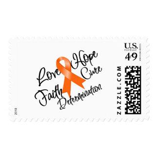 Multiple Sclerosis Love Hope Determination Stamp