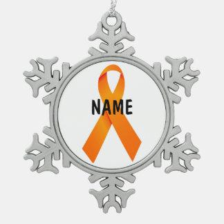 Multiple Sclerosis Memorial Ribbon Ornament