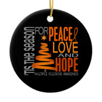 Multiple Sclerosis MS Christmas 1 Ornaments