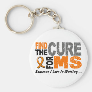 Multiple Sclerosis MS Find The Cure 1 Basic Round Button Keychain