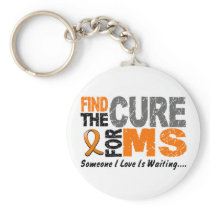 Multiple Sclerosis MS Find The Cure 1 Keychain