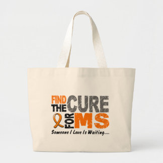 Multiple Sclerosis MS Find The Cure 1 Large Tote Bag