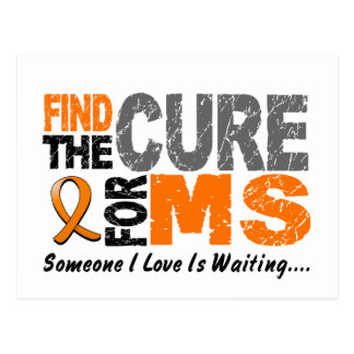 Multiple Sclerosis MS Find The Cure 1 Postcard