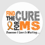 Multiple Sclerosis MS Find The Cure 1 Round Stickers