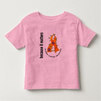 Multiple Sclerosis MS Flower Ribbon 3 Toddler T-shirt
