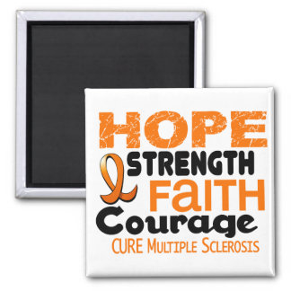 Multiple Sclerosis MS HOPE 3 2 Inch Square Magnet