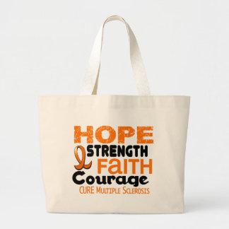 Multiple Sclerosis MS HOPE 3 Large Tote Bag