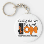 Multiple Sclerosis MS HOPE 4 Basic Round Button Keychain