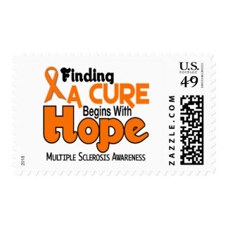 Multiple Sclerosis MS HOPE 5 Postage Stamps