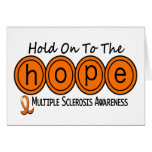 Multiple Sclerosis MS HOPE 6 Greeting Cards