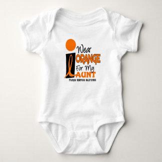 Multiple Sclerosis MS I Wear Orange For My Aunt 9 Baby Bodysuit