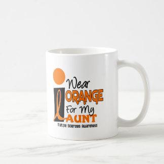 Multiple Sclerosis MS I Wear Orange For My Aunt 9 Coffee Mug