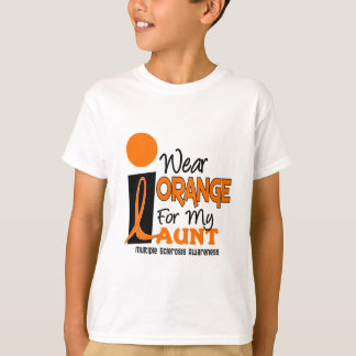 Multiple Sclerosis MS I Wear Orange For My Aunt 9 T-Shirt