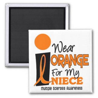 Multiple Sclerosis MS I Wear Orange For My Niece 9 Refrigerator Magnet