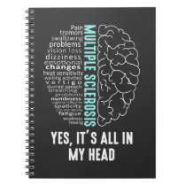 Multiple Sclerosis MS It's All In My Head Notebook