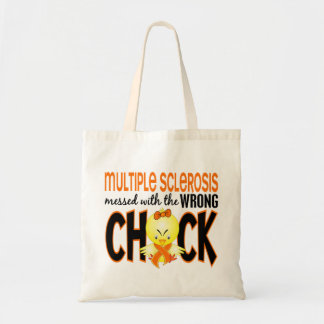 Multiple Sclerosis MS Messed With The Wrong Chick Budget Tote Bag