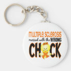 Multiple Sclerosis MS Messed With The Wrong Chick Keychain