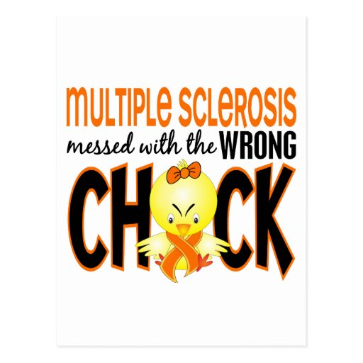 Multiple Sclerosis MS Messed With The Wrong Chick Postcard