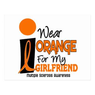 Multiple Sclerosis MS Orange For My Girlfriend 9 Postcard