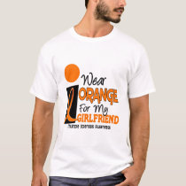 Multiple Sclerosis MS Orange For My Girlfriend 9 T-Shirt