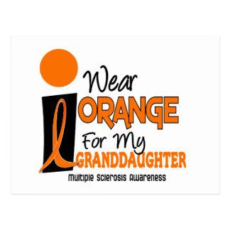Multiple Sclerosis MS Orange For My Granddaughter Postcard