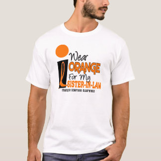 Multiple Sclerosis MS Orange For My Sister-In-Law T-Shirt