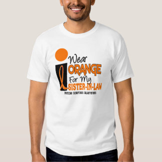 Multiple Sclerosis MS Orange For My Sister-In-Law Tee Shirt