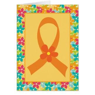Multiple Sclerosis MS Orange Ribbon Awareness Greeting Cards