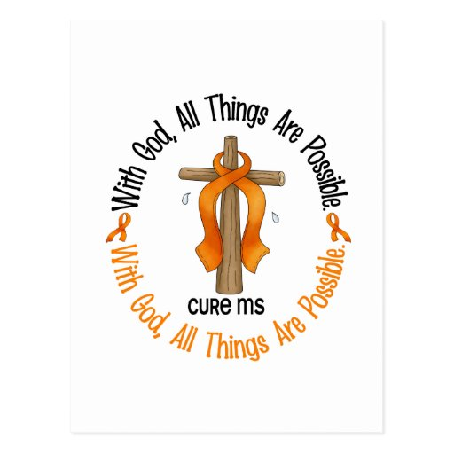 Multiple Sclerosis MS WITH GOD CROSS 1 Post Cards