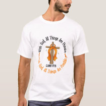 Multiple Sclerosis MS WITH GOD CROSS 1 T-Shirt