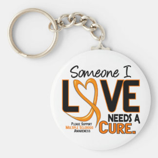 Multiple Sclerosis NEEDS A CURE 2 Basic Round Button Keychain