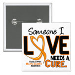 Multiple Sclerosis NEEDS A CURE 2 Pinback Buttons