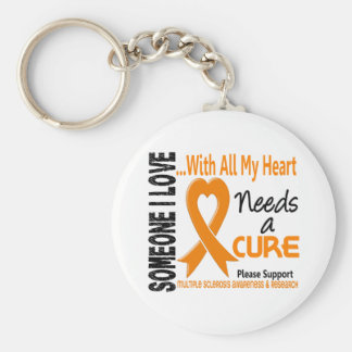 Multiple Sclerosis Needs A Cure 3 Basic Round Button Keychain