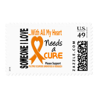 Multiple Sclerosis Needs A Cure 3 Postage Stamps