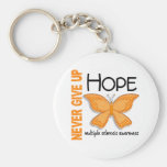 Multiple Sclerosis Never Give Up Hope Butterfly 4 Keychain