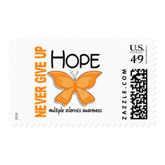 Multiple Sclerosis Never Give Up Hope Butterfly 4 Postage Stamp