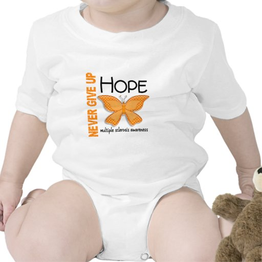 Multiple Sclerosis Never Give Up Hope Butterfly 4 Tees