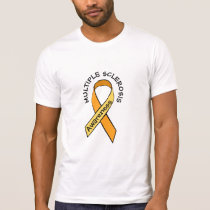 Multiple Sclerosis Orange Awareness Ribbon Shirt