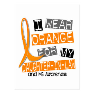 Multiple Sclerosis Orange For My Daughter-In-Law Postcard