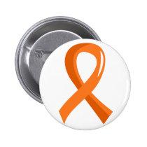 Multiple Sclerosis Orange Ribbon 3 Button