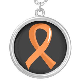 Multiple Sclerosis Orange Ribbon 3 Pendants