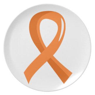 Multiple Sclerosis Orange Ribbon 3 Plate