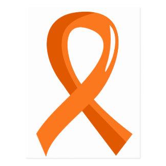 Multiple Sclerosis Orange Ribbon 3 Postcard