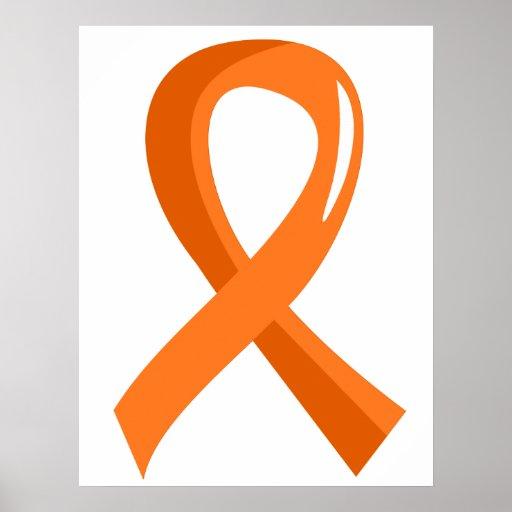 Multiple Sclerosis Orange Ribbon 3 Posters