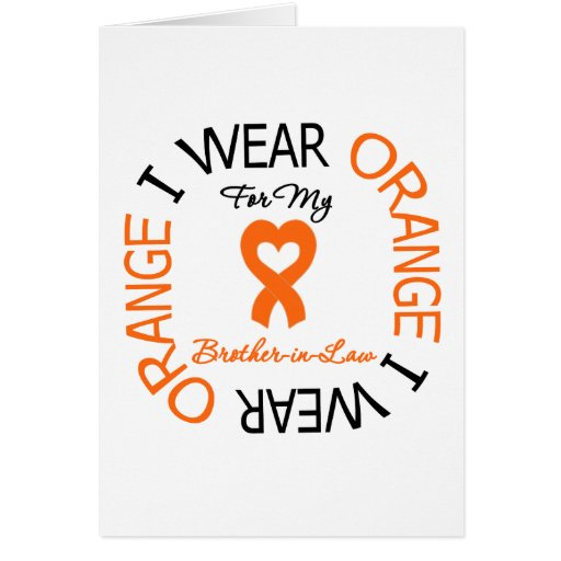 Multiple Sclerosis Orange Ribbon Brother-in-Law Card